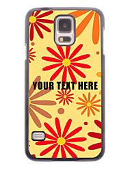 caja del teléfono personalizado - diseño de la flor caja de metal rojo para i9600 Samsung Galaxy S5