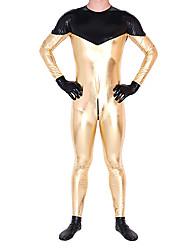 Costumes zentai Ninja Costume Zentai Costumes de Cosplay Doré Imprimé Collant/Combinaison / Costume Zentai Couleur métalique brillante