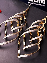 High Quality Exaggeration Vintage Multi-level Frosted Earrings