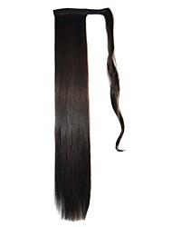 bandes cravate extensions synthétiques postiches droites (noir)