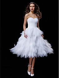 Lanting Bride Ball Gown Petite / Plus Sizes Wedding Dress-Knee-length Sweetheart Tulle
