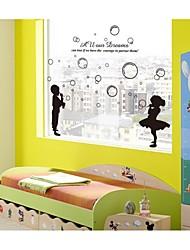 adesivos de parede decalques de parede, estilo bolhas de sopro de parede de pvc adesivos