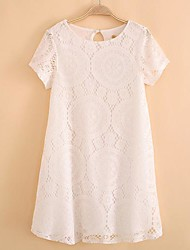 Women's Round Collar Fashion Elegant Lace Dresses (More Colors)