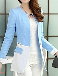 Women's Blazer,Solid Long Sleeve Regular Cotton