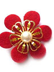 Fashion Bride Red Flower Hairpin