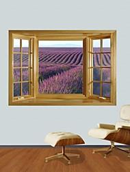 Adesivos de parede adesivos de parede 3d, Campos de flores de parede decoração adesivos de vinil