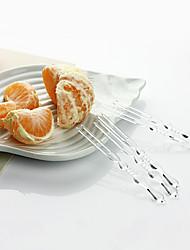 Small Size Disposable Transparent Fruit Forks,4000Pcs/set