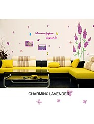 Wall Stickers Wall Decals, Style New Lavender PVC Wall Stickers