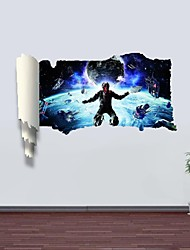 3D Wall Stickers Wall Decals, Outer Space Decor Vinyl Wall Stickers