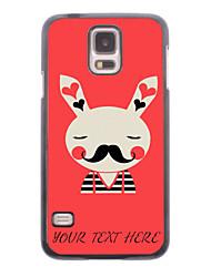 caja del teléfono personalizado - caso del metal del diseño del conejo para i9600 Samsung Galaxy S5