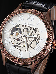 FORSINING® Men's Watch Automatic self-winding Skeleton Watch Hollow Engraving Leather Band Cool Watch Unique Watch