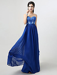 Formal Evening Dress A-line Sweetheart Floor-length with Appliques