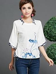 Normal - Medium - Vintage/Avslappet/Print - Bomullsblandinger) T-shirt