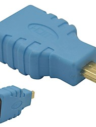 HDMI Female to Micro HDMI Male Adapter-Blue