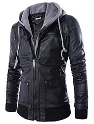 Men PU Outerwear (Hoodies)