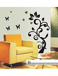 Stickers muraux Stickers muraux, de style arbre fleur noire pvc stickers muraux