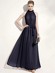 Suki Women's Fashion Causual Chiffon Knee-length Halter Dress
