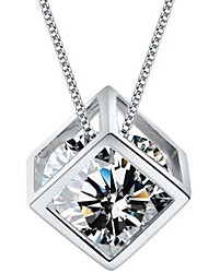 Ladies' Silver Pendant With Cubic Zirconia