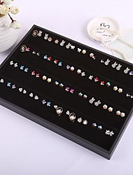 80 Holes Earrings Tray Women's Jewelry Display Jewelry Storage Boxes