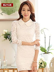Suyue® Women's Long Sleeve Vintage Lace Knee-Length Dress