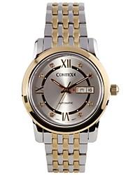 The Trend of Men's Genuine Mechanical Table Calendar Waterproof Luminous Business Casual Watch Gold