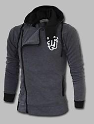MANWAN WALK®Men's Chest Embroidery Patch Hoodie Jacket