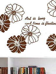 fleur environnement sticker mural en forme