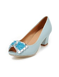 Women's Shoes Chunky Heel Peep Toe Pumps/Heels Party & Evening Shoes More Colors available