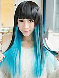 Fashion Cartoon No Capacitance High Temperaturesilk Mixed Color Black Color Wig