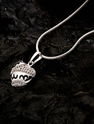 Women's Unique Silver Plating Loving-Heart Pendant Necklace