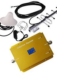 Nouvel écran LCD cdma950 850MHz téléphone mobile cellulaire amplificateur de signal avec antenne de plafond et Yagi