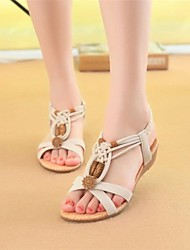 Women's Shoes Flat Heel Mary Jane Sandals Casual Black/Beige