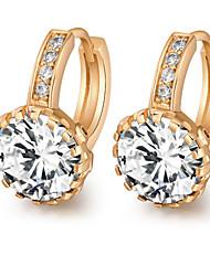 Women's 18K Gold Plating Inlay Zircon Individuality Earrings