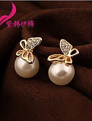 Pearl Butterfly Earrings E456