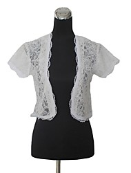 Short Sleeve Lace Wedding(more colors)/Special Occation Wraps Bolero Shrug