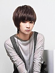 Japan And South Korea Fashion Without Capa Citance Brown Men Wigs