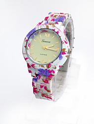 - Analog - Blume - Armbanduhr - für Damen