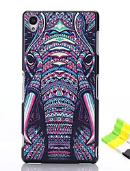 Elephant Head Pattern PC Hard Case and Phone Holder for Sony Xperia Z3