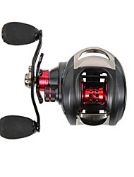 2015 New Trulinoya Left Handle Centrifugal Brake Casting Reel 13+1 Ball Bearing Black Fishing Reel