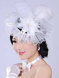 Luxurious Retro Exaggerated Feathers Bridal Headpiece