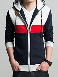 MANWAN WALK®Men's Casual Slim Patchwork hoodie.