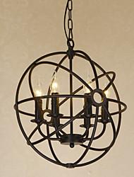Lampe suspendue - Contemporain/Traditionnel/Classique/Rustique/Vintage/Rétro/Lanterne/Batterie/Globe - avec Style mini - Métal
