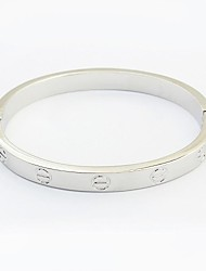 Women's EU&US Fashion Simply Alloy Lock Bangles