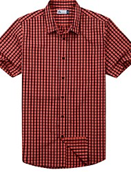 Men's Casual Outdoor Red Check Shirt