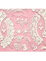 quatre c gâteau tapis de dentelle gâteau tapis de cuisson en silicone moule pour la décoration, tapis de silicone fondant outils de gâteau