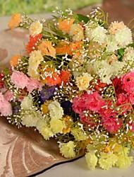 "13.8 ""l conjunto de 1 coreia 5 MEMBROS cravo pano de seda flores"