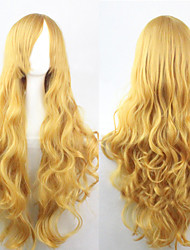 Cosplay Yellow Fashion Must-have Girl High Quality Long Curly Hair Wig