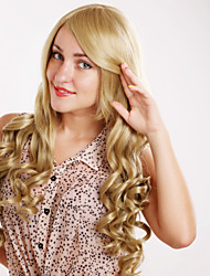 New Fashion Golden Brown Long Hair Curly Wig
