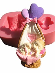 Valentine Baby With Heart Molds For Cake&Chocolate Decoration