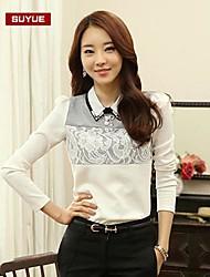 mousseline de dentelle vintage à manches longues t-shirt régulière des femmes suyue®